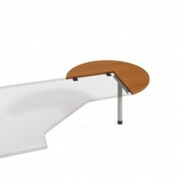 Stůl jednací pravý pr100cm, Hobis Cross (CP 21 P)