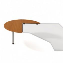 Stůl jednací levý napříč pr120cm, Hobis Cross (CP 22 L N)