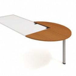Stůl jednací pravý podél pr120cm, Hobis Cross (CP 22 P P)