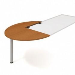Stůl jednací levý podél pr120cm, Hobis Flex (FP 22 L P)