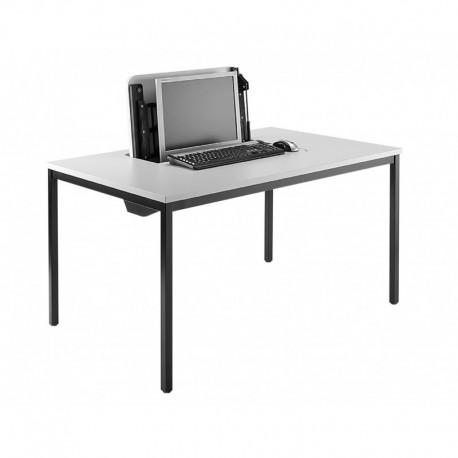 s uzamykatelnou výklopnou schránkou na klávesnici a LCD monitor, 1× PC box