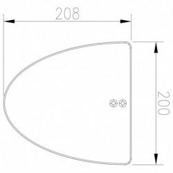 Půleliptická patka kolizní (TPA P 3)