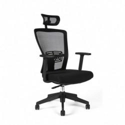 Kancelářská židle s podhlavníkem, TD-14, červená (THEMIS SP)