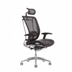 Kancelářská židle s podhlavníkem, IW-04, modrá (LACERTA)