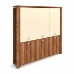 Skříň třídveřová, zavřená - skleněné dveře Exner Expo+ (E 5 3 01)