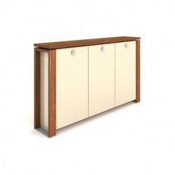 Skříň třídveřová s věšákem, skleněné dveře Exner Expo+ (E 3 3 01 S)