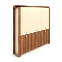 Skříň třídveřová, zavřená - skleněné dveře Exner Expo+ (E 5 3 01 S)