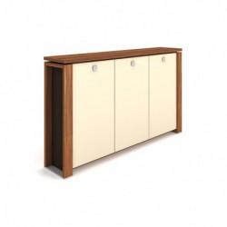 Skříň třídveřová s věšákem, skleněné dveře Exner Expo+ (E 3 3 01 K)