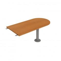Stůl jednací délky 160 cm ukončený obloukem (GP 1600 3)