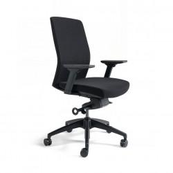 Kancelářská židle čalouněná bez podhlavníku, černý plast, zelená 203 (J2 BP)