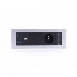 Pevný panel, 1x el., 1x Qi bezdr. nabíjení, 2x USB 3.0, 1x USB nabíjení (PTCZ 017)