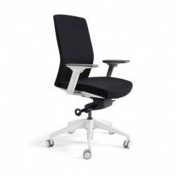 Kancelářská židle čalouněná bez podhlavníku, bílý plast, tmavě modrá 211 (J2 WHITE BP)