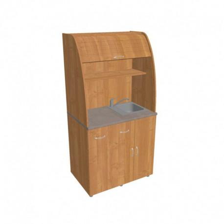 Kancelářská kuchyňka  Hobis KU 2 3 P s baterií dřezem a lednicí