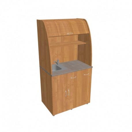 Kancelářská kuchyňka  Hobis KU 2 3 L s baterií dřezem a lednicí