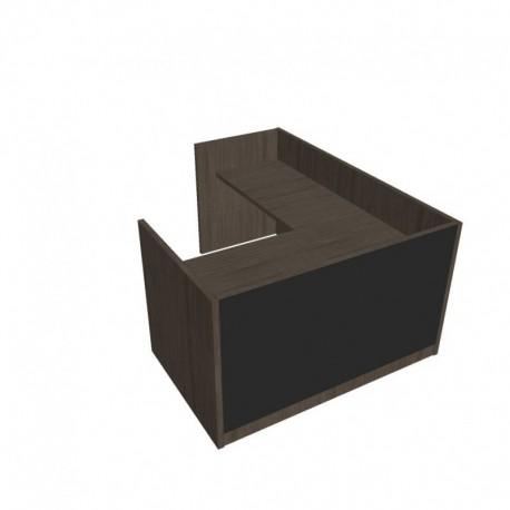 Recepce 160 + přídavný stůl 120x60 levý Exner Assist (ARS 160 L S)