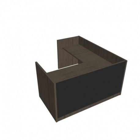 Recepce 180 + přídavný stůl 120x60 levý Exner Assist (ARS 180 L S)