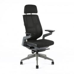 Kancelářská židle potah mesh s podhlavníkem, A-10 černá (KARME MESH)