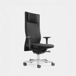 Zdravotní balanční židle s vypínatelným systémem ERGO TOP s podhlavníkem z pravé kůže (LEZGO LG 7K)