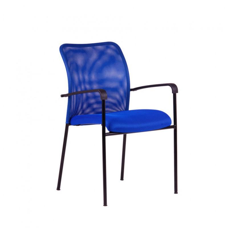 Kancelářská židle, DK 90, modrá (TRITON BLACK)