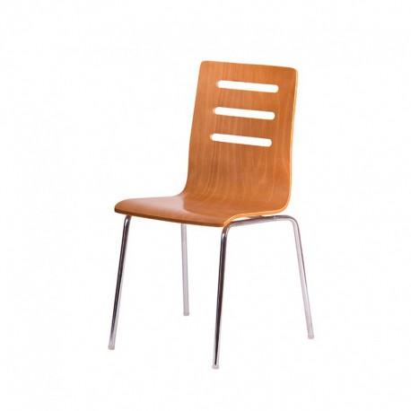 Dřevěná židle, TŘEŠEŇ/CHROM (TINA)