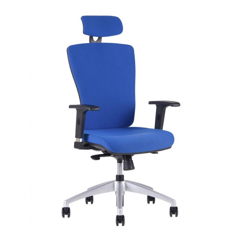 Kancelářská židle s podhlavníkem, 2621, modrá (HALIA SP)