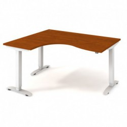 Ergo elektr. stav. stůl 160x120 cm, pravý, stand. ovlad. (MST 2 2005 P)