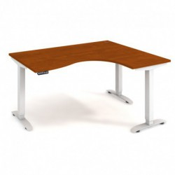 Ergo elektr. stav. stůl 160x120 cm, levý, paměť. ovlad. (MST 2M 2005 L)
