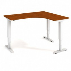 Ergo elektr. stav. stůl 160x120 cm, levý, stand. ovlad. (MST 3 60 L)