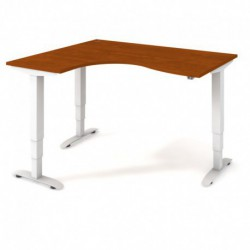 Ergo elektr. stav. stůl 160x120 cm, pravý, stand. ovlad. (MST 3 2005 P)