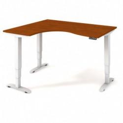 Ergo elektr. stav. stůl 160x120 cm, pravý, paměť. ovlad. (MST 3M 2005 P)