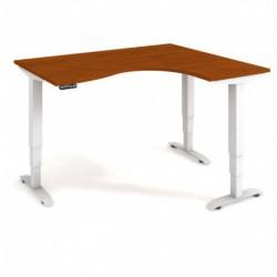 Ergo elektr. stav. stůl 160x120 cm, levý, paměť. ovlad. (MST 3M 2005 L)