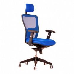 Kancelářská židle s podhlavníkem, DK 90, modrá (DIKE SP)