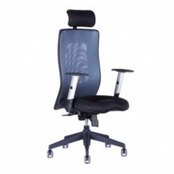 Kancelářská židle s podhlavníkem, 14A11, modrá (CALYPSO GRAND SP1)