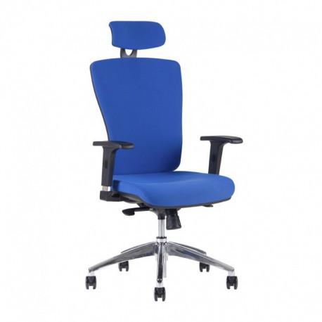 Kancelářská židle s podhlavníkem, 2621, modrá (HALIA CHR SP)