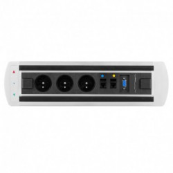 Elektricky otočný panel, 3x el.zás.,2x data,VGA (VAULT BTCZ 003)