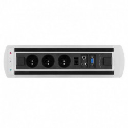 Elektricky otočný panel, 3x el.zás.,1x data,VGA,audio,mikrof (VAULT BTCZ 004)