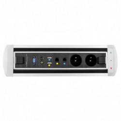 Elektricky otočný panel, 2x el.,2x data,video,audio,VGA,USB (VAULT BTCZ 012)