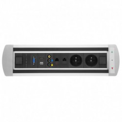Elektricky otočný panel, 2x el.,2x data, video,VGA,USB,HDMI (VAULT BTCZ 043)