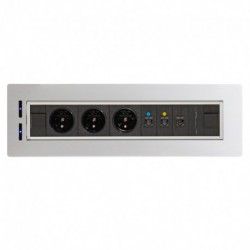 Elektricky otočný panel, 3x el.zás.,3x data (VAULT BTCZ V 002)