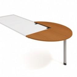 Stůl jednací pravý podél pr120cm Hobis Gate (GP 22 P P)
